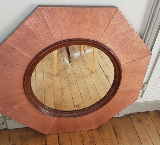 Miroir cuivre vintage