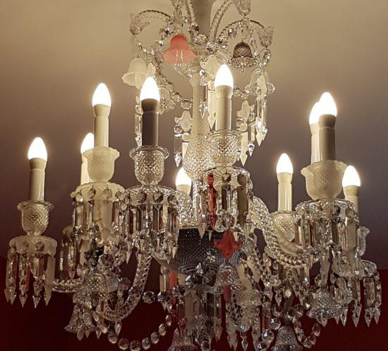 Ensemble De Luminaire Baccarat Lustre Appliques Lampe